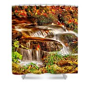 Water Over The Rocks Shower Curtain