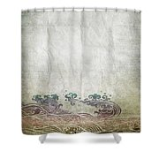 Water Pattern On Old Paper Shower Curtain by Setsiri Silapasuwanchai