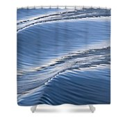 Water Patterns Of Boat Wake Shower Curtain