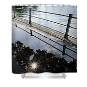 Water Puddle Shower Curtain
