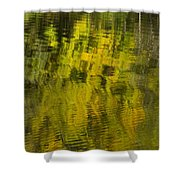 Water Reflection Abstract Autumn 1 E Shower Curtain