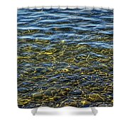 Water Ripples And Reflections On Lake Huron Shower Curtain