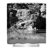 Water Rock Flower In Central Park Shower Curtain