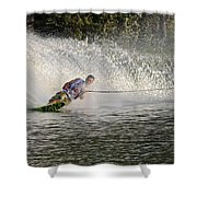 Water Skiing 14 Shower Curtain