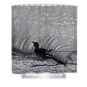 Water Skiing 3 Shower Curtain