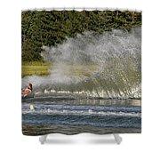 Water Skiing 4 Shower Curtain