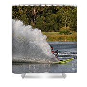 Water Skiing 6 Shower Curtain