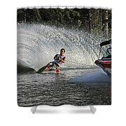 Water Skiing 8 Shower Curtain