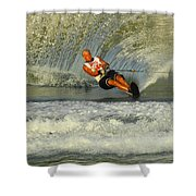 Water Skiing Magic Of Water 4 Shower Curtain by Bob Christopher