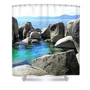 Water Stonehenge Lake Tahoe Shower Curtain