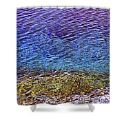 Water Surface  Shower Curtain