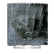 Water Wall And Whirling Bubbles Shower Curtain