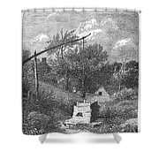 Water Well, C1880 Shower Curtain