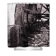 Water Wheel Old Mill Cherokee North Carolina  Shower Curtain by Susanne Van Hulst