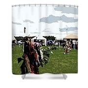 Watercole Cutout Rain Dance Fx  Shower Curtain