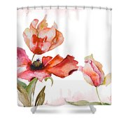 Watercolor Background Shower Curtain