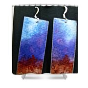 Watercolor Earrings Artists Favorite Shower Curtain