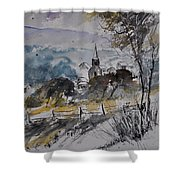 Watercolor Lesterny Shower Curtain