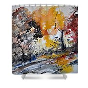 Watercolor211020 Shower Curtain