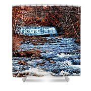 Waterfall Along A Mountain Stream Shower Curtain