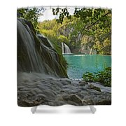 Waterfall At Plitvice National Park In Shower Curtain