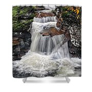 Waterfall At Ricketts Glen Shower Curtain