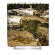 Waterfall In Fall Shower Curtain