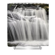 Waterfall In The Woods Shower Curtain