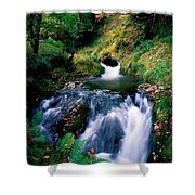Waterfall In The Woods, Ireland Shower Curtain