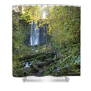 Waterfall Of Vaucoux. Puy De Dome. Auvergne. France Shower Curtain