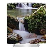 Waterfall, Peter Lougheed Provincial Shower Curtain