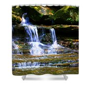 Waterfall Trio At Mcconnells Mill State Park Shower Curtain