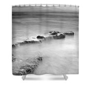 Waterfalls On The Rocks M Shower Curtain