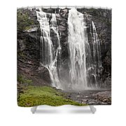 Waterfalls Over A Cliff Norway Shower Curtain