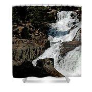 Waters Flow Glen Alpine Falls Shower Curtain