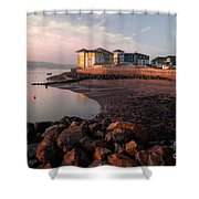 Waterside At Exmouth Shower Curtain