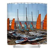 Watersports In La Baule Shower Curtain
