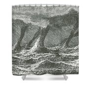 Waterspouts Shower Curtain
