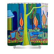 Watertown Cafe Shower Curtain