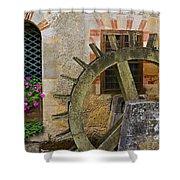 Waterwheel Shower Curtain