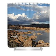 Watson Lake 3  Shower Curtain