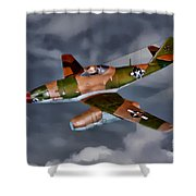 Watson's Whizzers-oil Shower Curtain