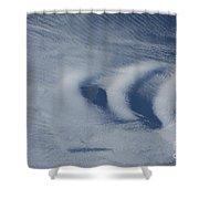 Wave Clouds Near Ile Aux Cochons Shower Curtain