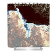 Waves At Arch Rock Shower Curtain