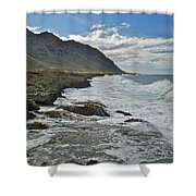 Waves At Kaena State Park 7847 Shower Curtain