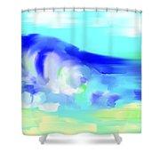 Waves Crashing On The Beach Shower Curtain