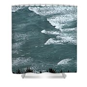 Waves In The Sky Shower Curtain
