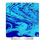 Waves Of Abstraction Shower Curtain