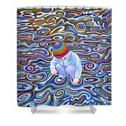 Waves Of Dream Shower Curtain