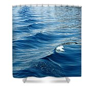 Waves On Tahoe Shower Curtain
